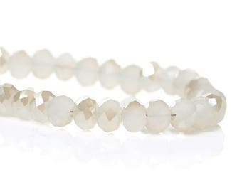 Lot 100 round glass beads flat 4mm - SC48357-