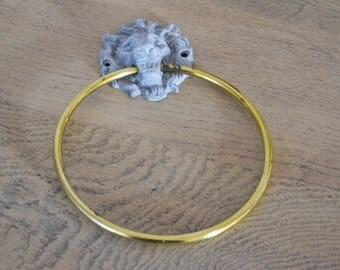 LION HEAD TOWEL RING