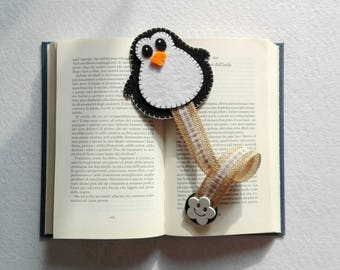 Penguin Bookmark felt bookmark Penguin felt