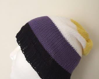 Nonbinary Pride Slouchy Beanie Hat