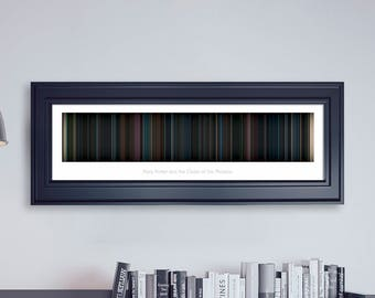 Harry Potter and the Order of the Phoenix // Movie Poster // Movie Barcode // Harry Potter Print // Wall Decor // Panoramic
