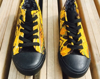 Wax Ankara customized tennis sneakers