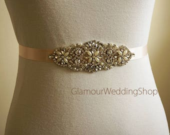 Sale - Wedding Belt Bridal Belt Sash Bridal Sash Belt Crystal Sash