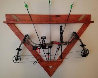 Wood bow rack