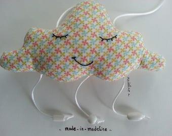"Sewing Kit ""cloud mobile"" print fabric Scandinavian atmosphere"