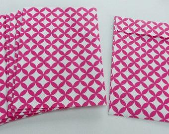 10 envelopes geometric red and white 11.4X16.2 cm rectangular envelope