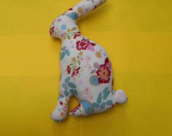 Blanket - Bunny in floral fabric