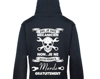 Black sweatshirt Hoodie mixed mechanic