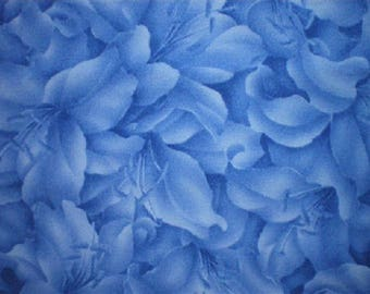 Blue Lily blue patchwork fabric