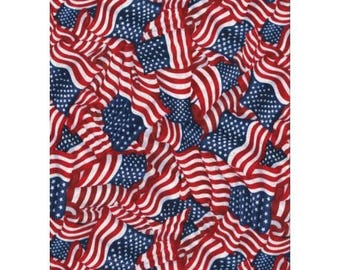 patchwork fabric American flags 11230571