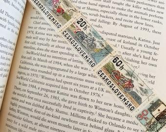 Czech Bikes Postage Stamp Bookmark