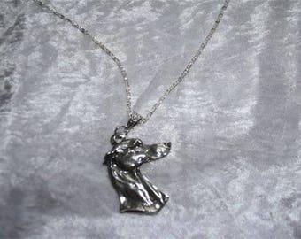 Greyhound bust neck chain