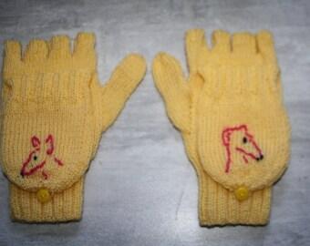 fingerless mittens Greyhound