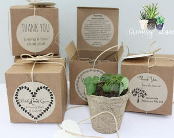 Seed Paper Grow Kit Favours With Custom Labels