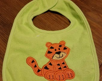 Tiger Applique Bib