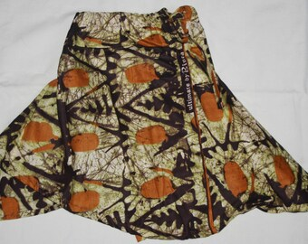 wax Senegalese asymmetrical skirt