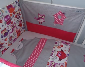 """Bumper and sleeping bag 6-24 months - range """"Simply"""" customizable to order"""