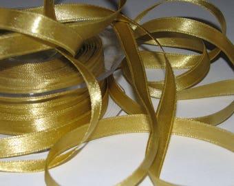 Gold by the yard satin ribbon