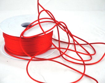 By the yard red rat tail cord