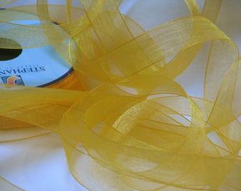 Chiffon Ribbon 15 mm saffron yellow
