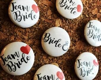 Team Bride Bachelorette Pins