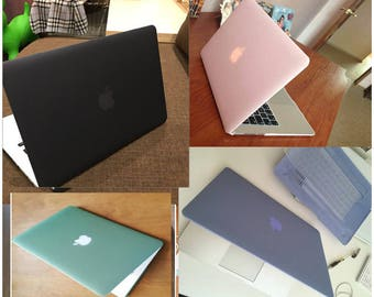 Macbook Air 11/13'' Hard Case (Two Piece), Bonus Keyboard Protector & Screen Protector (Ships From USA)