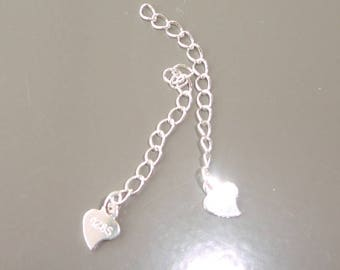 925 sterling silver chain and 925 sterling silver heart charm