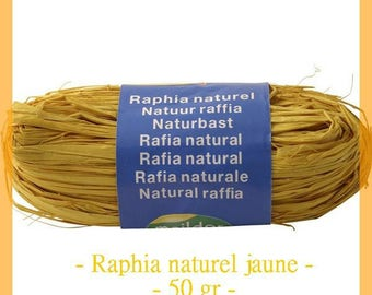 Natural raffia yellow 50 g