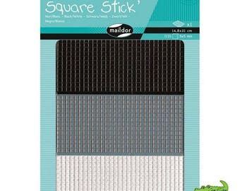 Mosaic Kit 1131 adhesive stickers from 5 mm, black and white, MAILDOR, child, adult, new