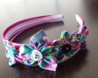 Romantic pink headband for girls
