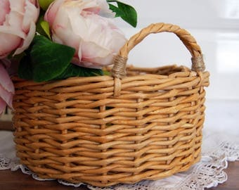 Decorative storage basket, Storage bin, Wicker basket, Organizer, Paper Box, Shelf basket