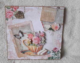 Shabby style greeting card