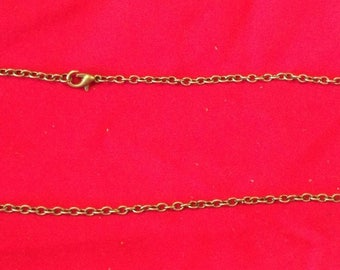 set of 12 link chains bronze 51 cm with clasp costs offered