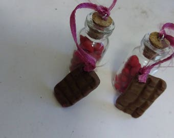 heart bottle charm