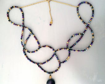 Venetian necklace with original Threading scrolls