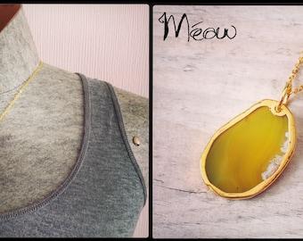 "Yellow Gold ""Precious Agatha"" collar"