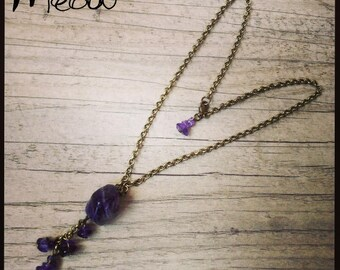 """Necklace """"Cascade of amethyst"""" feminine and chic"""