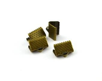 Ribbon ends clip bronze 10mm
