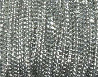 Chain links, flat diamond effects - 2.2 mm - Metal Stainless Steel 316 - silver - by 50 cm - CHSST15AG752