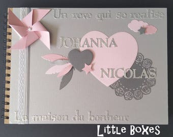 Heart for housewarming or wedding guest book
