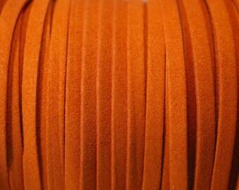 2 m cord 5 MM flat suede orange
