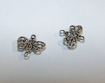 """Connector butterfly by 13.50 12.00 mm decor """"lace"""" sold individually. Money first. (2456611)"""