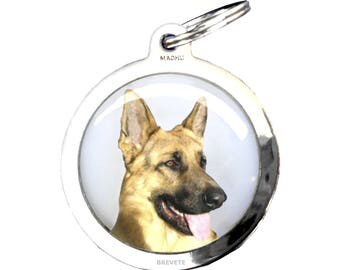 Medal dog German Shepherd - chrome