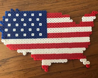 United States Flag Perler Beads