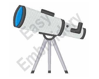 Telescope - Machine Embroidery Design