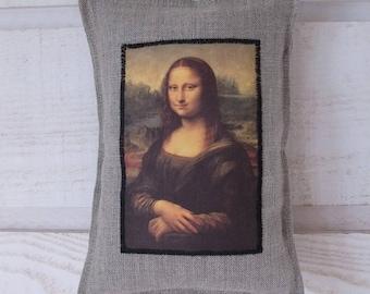 Door Mona Lisa linen cushion