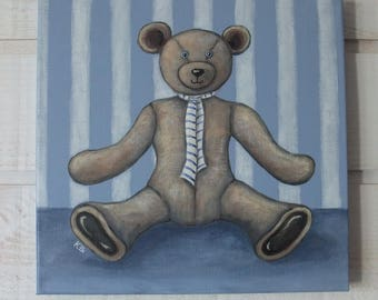 Painting bear Teddy Bear (blue)