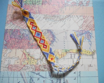 Colourful Woven Macrame Friendship Bracelet