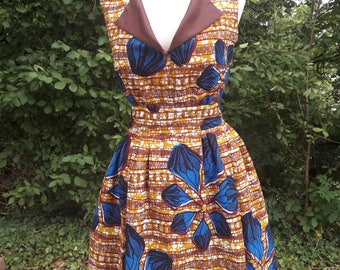 Mya African wax print dress