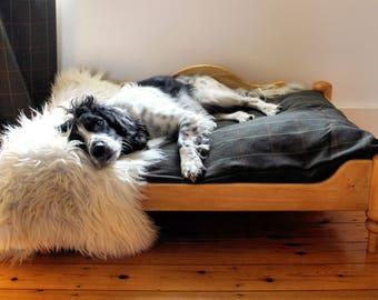 Handmade Wooden Dog Bed